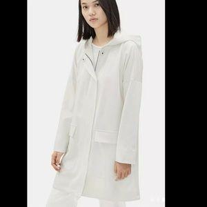 Eileen Fisher | S/P Bone Polyester Rain Jacket